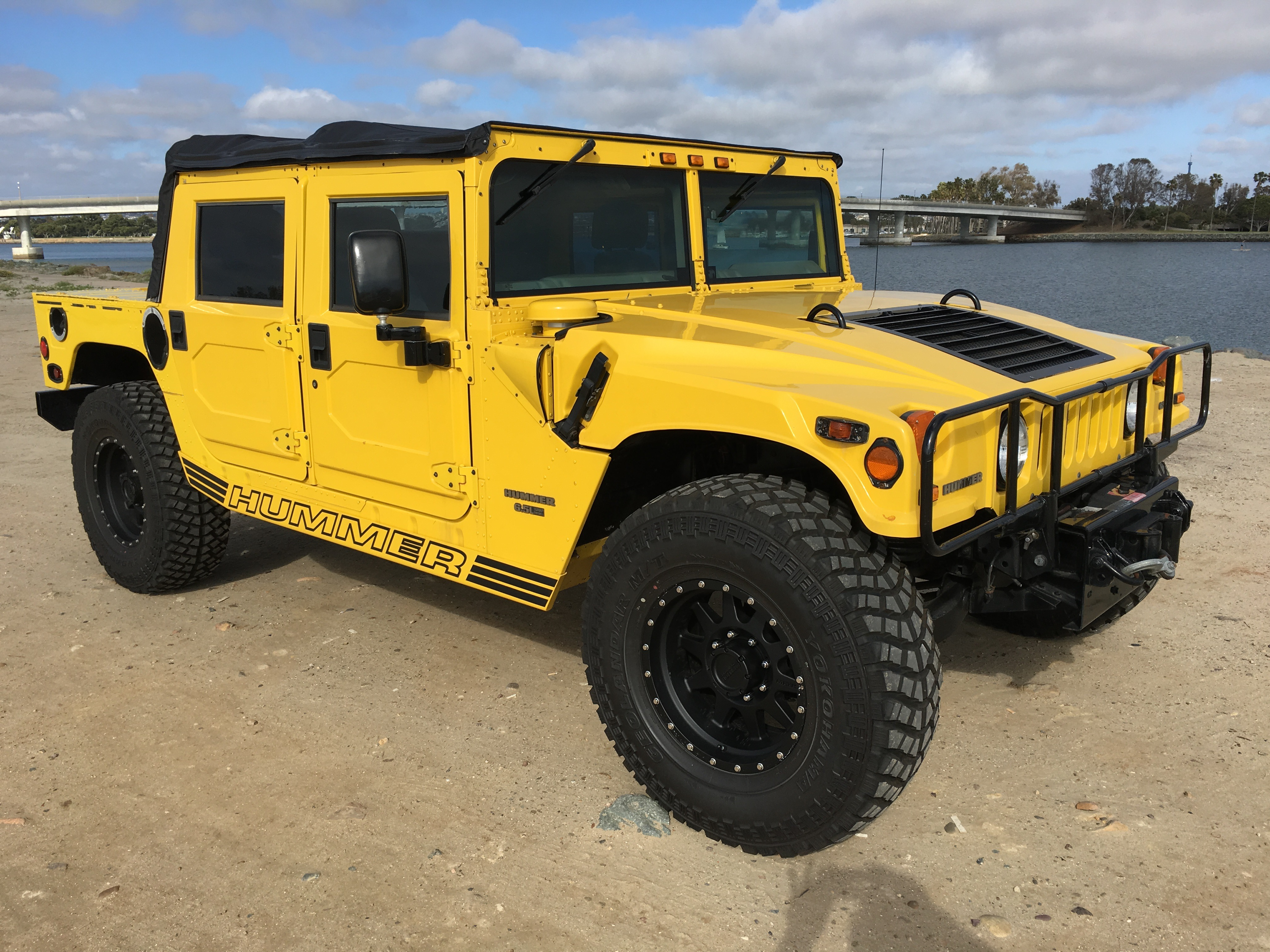 sold hummer h1 open top turbo diesel. Black Bedroom Furniture Sets. Home Design Ideas