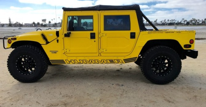 sold…….. hummer h1 open top turbo diesel