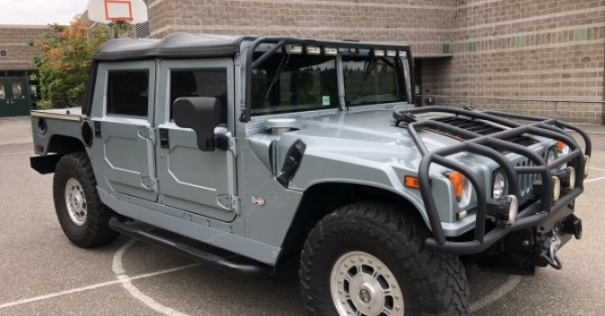 sold………. 2003 Hummer H1 open top ,rare factory color 1 of 23 open tops